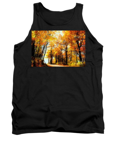 A Golden Day Tank Top by Lois Bryan