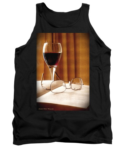 A Good Book And A Glass Of Wine Tank Top