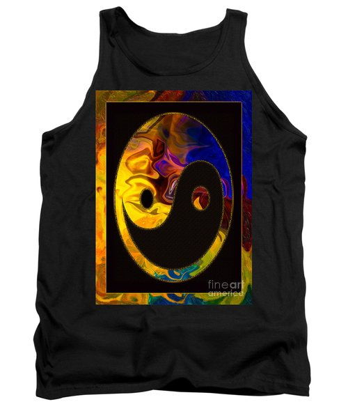 A Happy Balance Of Energies Abstract Healing Art Tank Top