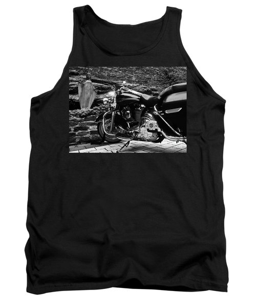 A Harley Davidson And The Virgin Mary Tank Top by Andy Prendy
