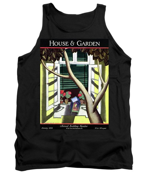 A House And Garden Cover Of A Birdcage Tank Top