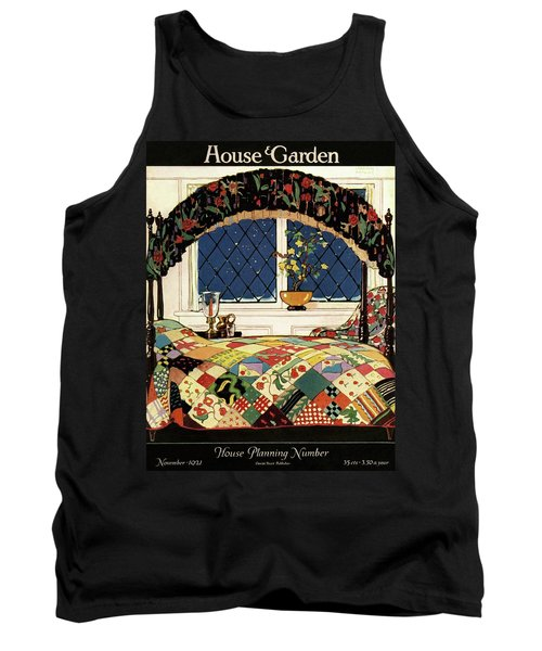 A House And Garden Cover Of A Four-poster Bed Tank Top