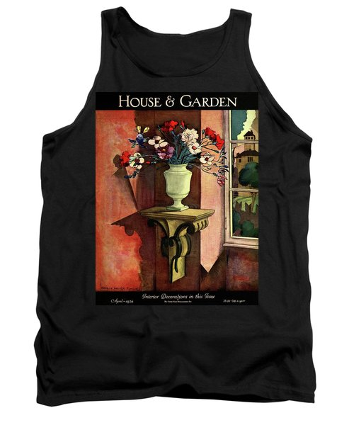 A House And Garden Cover Of A Vase Of Flowers Tank Top