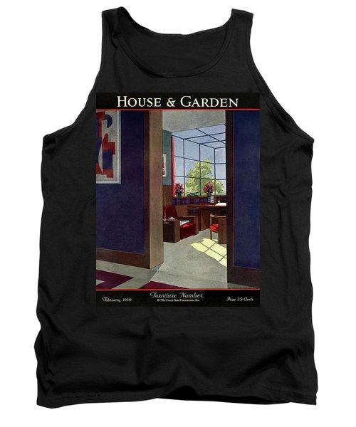 A House And Garden Cover Of An Interior Tank Top