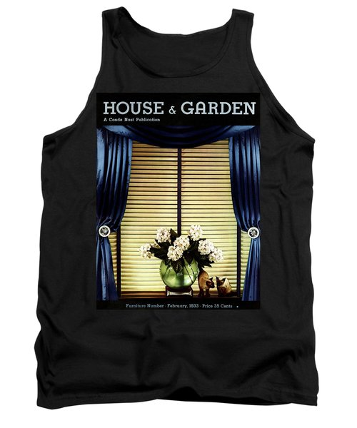A House And Garden Cover Of Flowers By A Window Tank Top