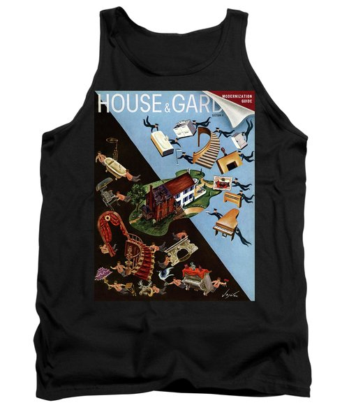 A House And Garden Cover Of People Moving House Tank Top