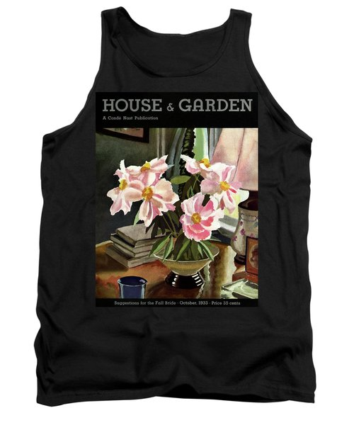 A House And Garden Cover Of Rhododendrons Tank Top
