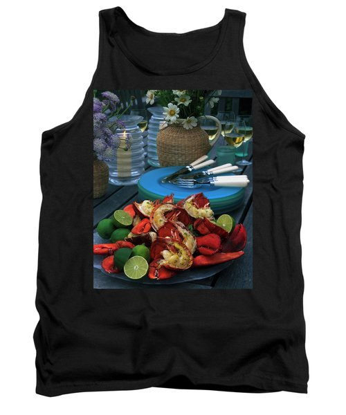 A Meal With Lobster And Limes Tank Top