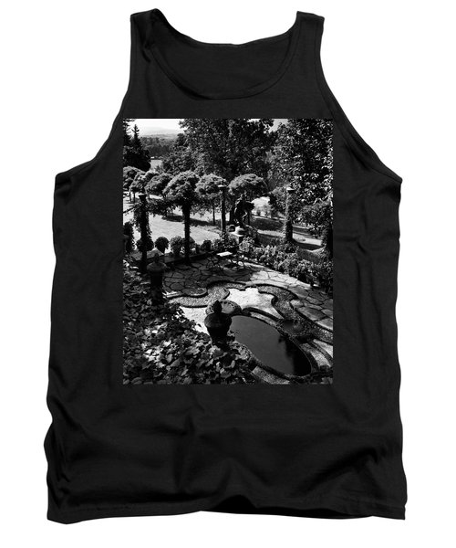 A Pond In An Ornamental Garden Tank Top