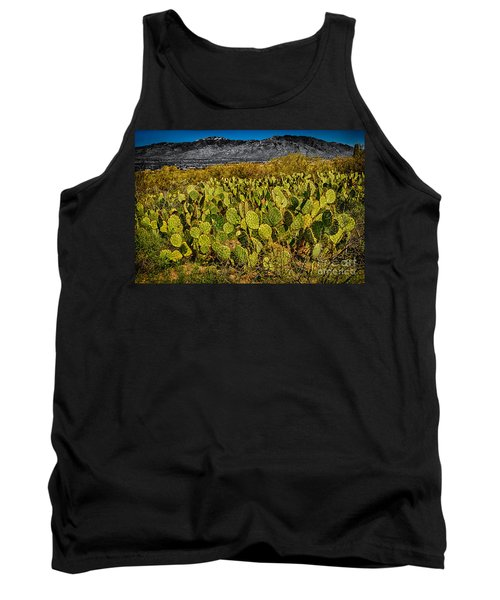 Tank Top featuring the photograph A Prickly Pear View by Mark Myhaver