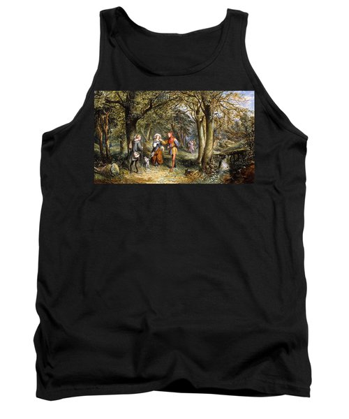 A Scene From As You Like It Rosalind Celia And Jacques In The Forest Of Arden Tank Top