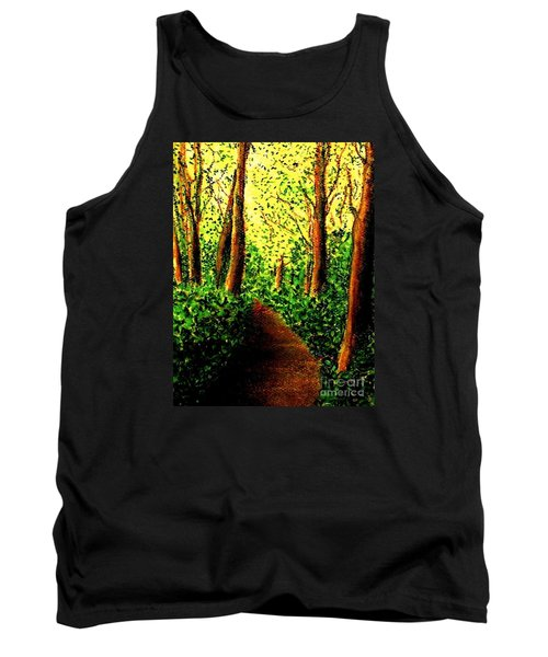 Tank Top featuring the painting A Spiritual Awakening by Hazel Holland