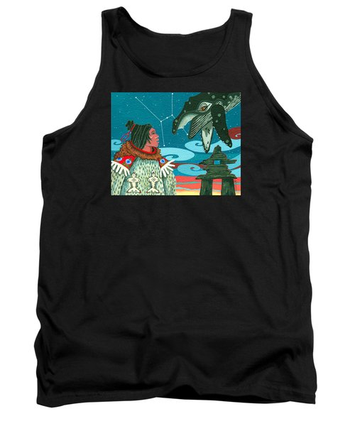 Tank Top featuring the painting A Study For Whale Dreamer by Chholing Taha