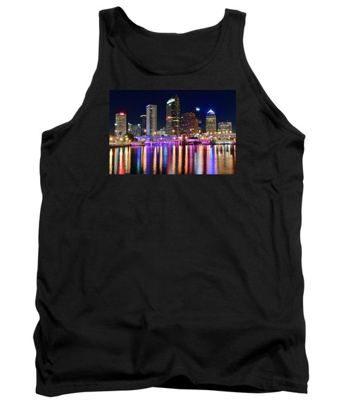 A Tampa Bay Night Tank Top by Frozen in Time Fine Art Photography