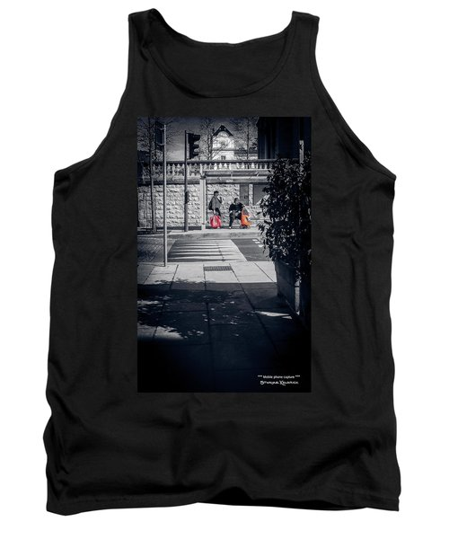 Tank Top featuring the photograph A Very Long Waiting Day by Stwayne Keubrick