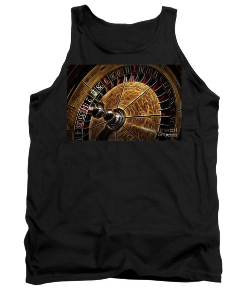 Tank Top featuring the photograph A Virginia City Roulette Wheel by Brad Allen Fine Art
