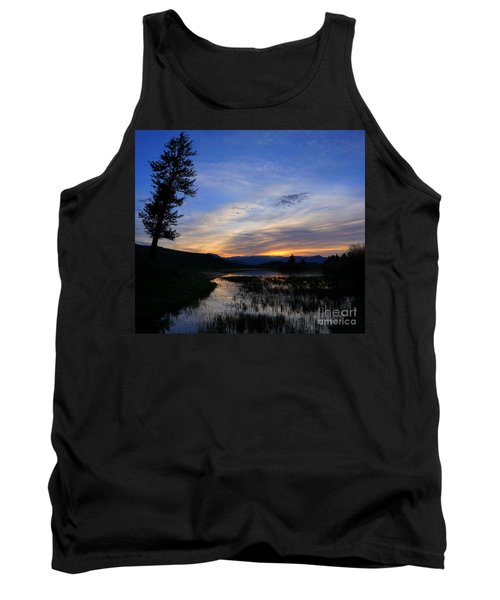 A Yellowstone Lake Before Sunrise Tank Top