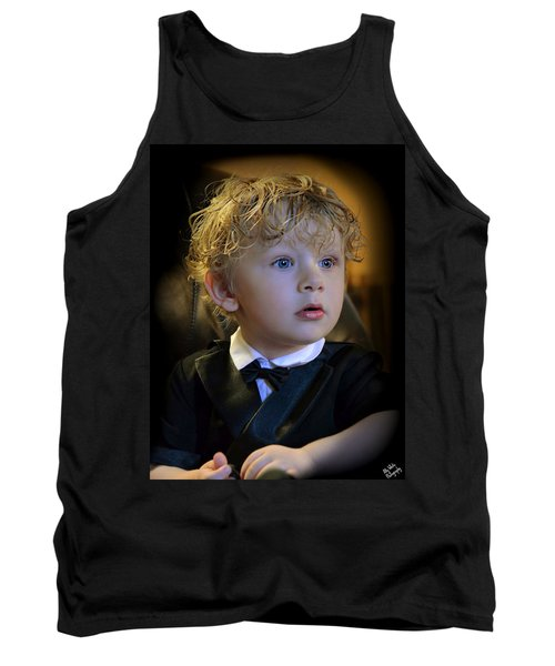 Tank Top featuring the photograph A Young Gentleman by Ally  White