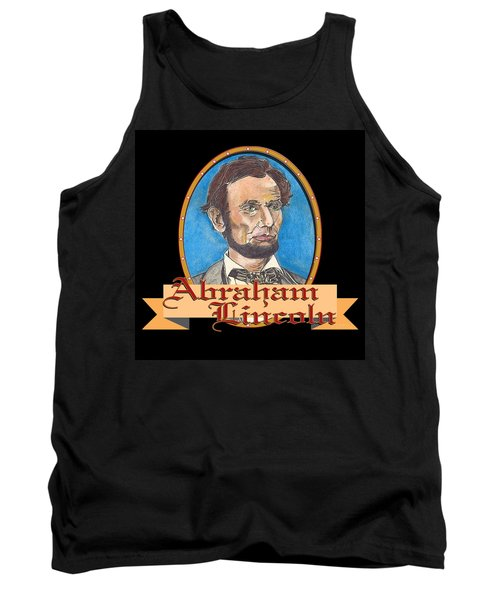 Abraham Lincoln Graphic Tank Top by John Keaton