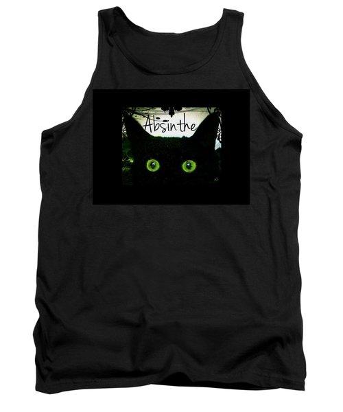 Absinthe Black Cat Tank Top by Absinthe Art By Michelle LeAnn Scott