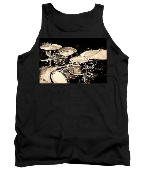 Abstract Drum Set Tank Top