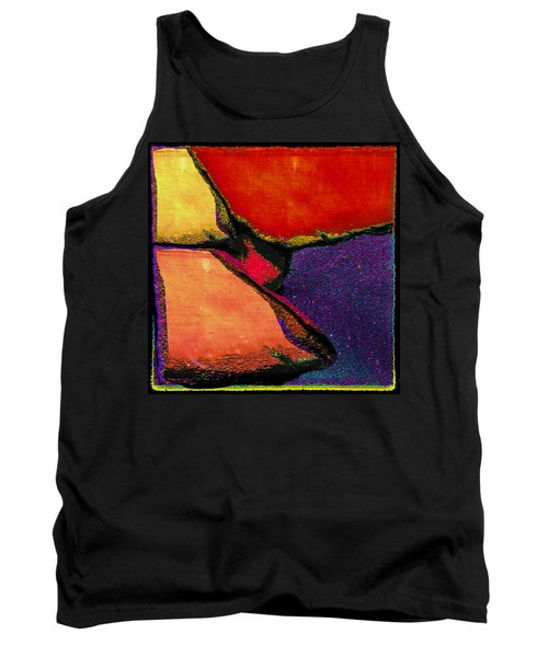 Abstract In Reds Tank Top