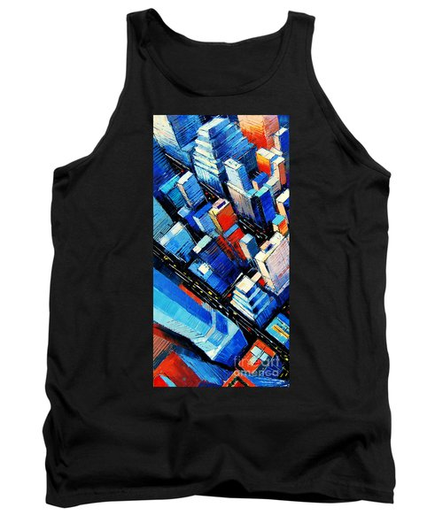 Abstract New York Sky View Tank Top