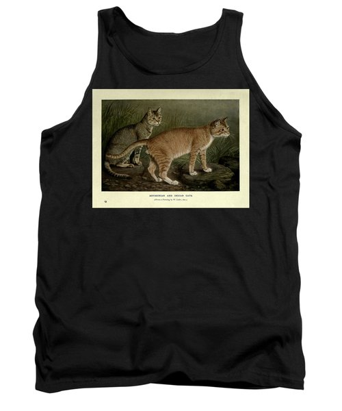 Abyssinian And Indian Cats Tank Top