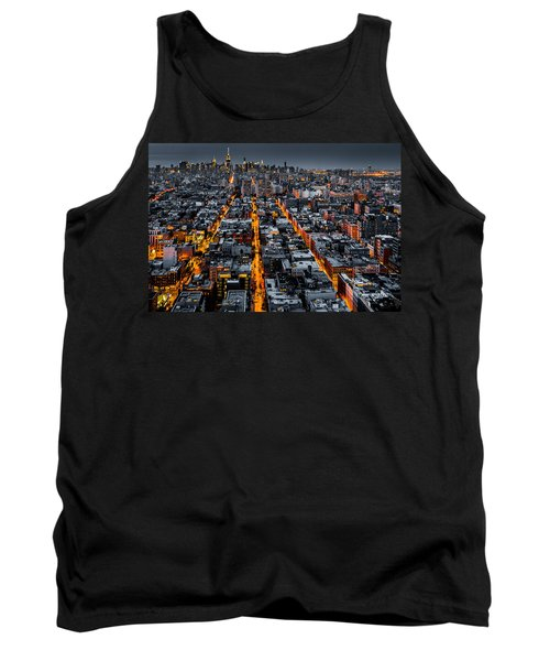Aerial View Of New York City At Night Tank Top