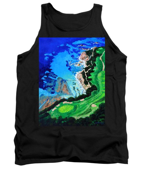 Aerial View Of Pebble Beach Tank Top by John Lautermilch