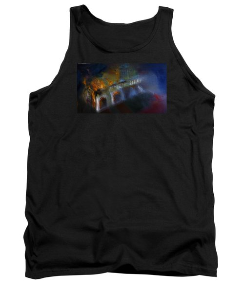 Tank Top featuring the painting Aflame by Lisa Kaiser