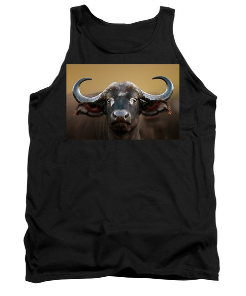 African Buffalo Cow Portrait Tank Top