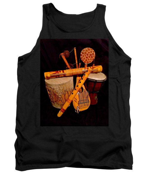 African Musical Instruments Tank Top