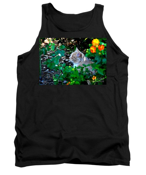 Tank Top featuring the photograph Afternoon Nap Interrupted by Susan Wiedmann