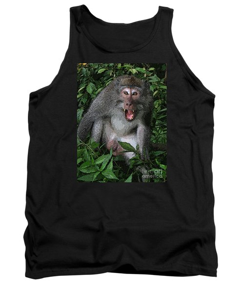Aggressive Monkey From Bali Tank Top by Sergey Lukashin