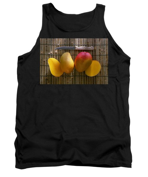 Agriculture - Sliced Sunrise Mango Tank Top by Daniel Hurst