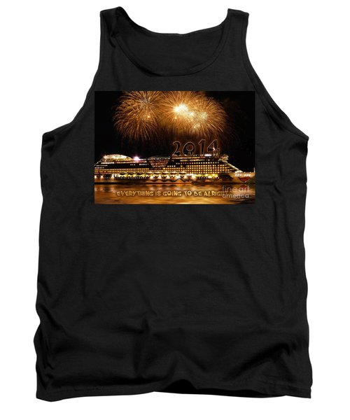 Tank Top featuring the photograph Aida Cruise Ship 2014 New Year's Day New Year's Eve by Paul Fearn