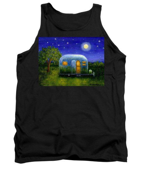 Tank Top featuring the painting Airstream Camper Under The Stars by Sandra Estes