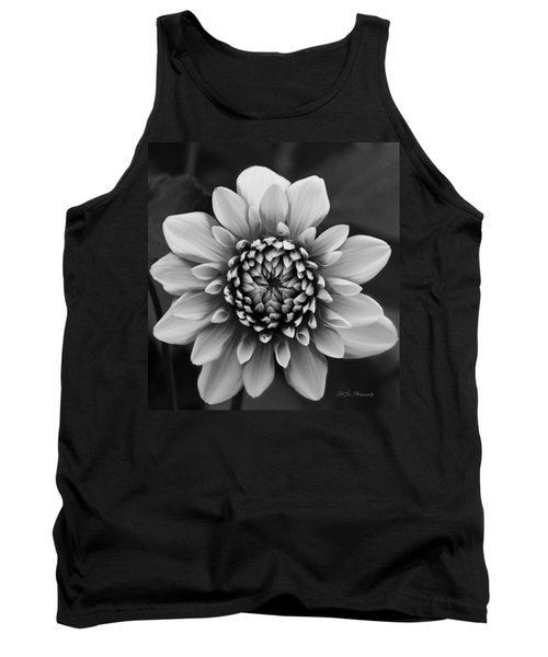 Ala Mode Dahlia In Black And White Tank Top