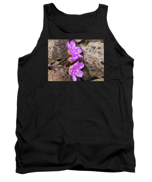 Tank Top featuring the photograph Alaskan Wildflower by Julie Andel