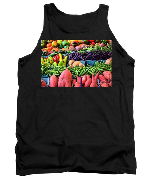 Tank Top featuring the photograph Alexandria Farmers Market by John S