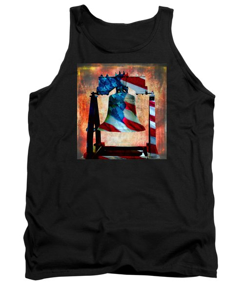Liberty Bell Art Smooth All American Series Tank Top by Lesa Fine