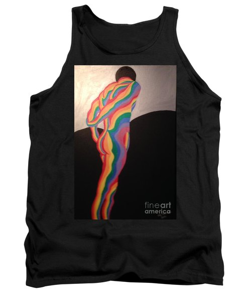 Tank Top featuring the painting All Mine by Erika Chamberlin