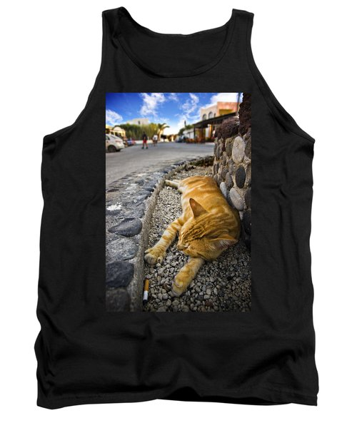 Tank Top featuring the photograph Alley Cat Siesta by Meirion Matthias