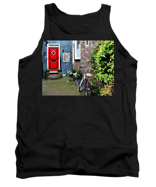 Tank Top featuring the photograph Alleyway In Dutch Village by Joe  Ng