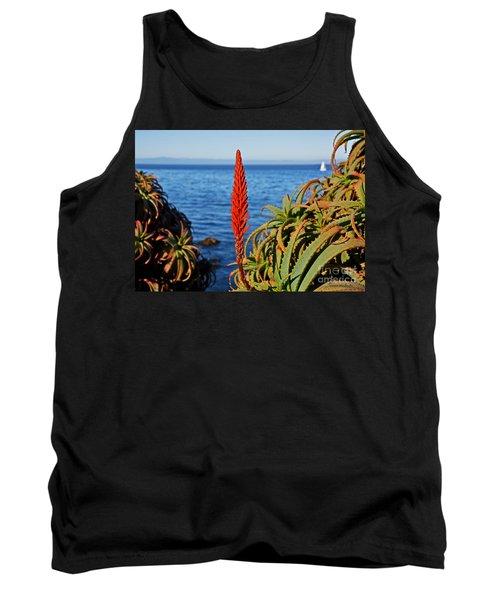 Aloe Arborescens Flowering At Pacific Grove Tank Top by Susan Wiedmann
