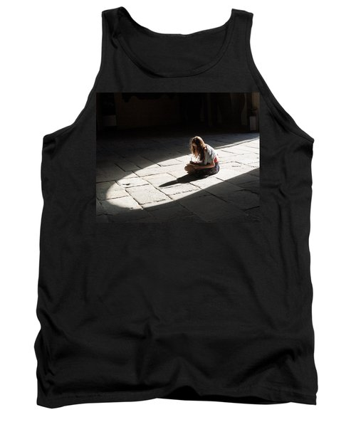 Alone In A Pool Of Light Tank Top by Alex Lapidus
