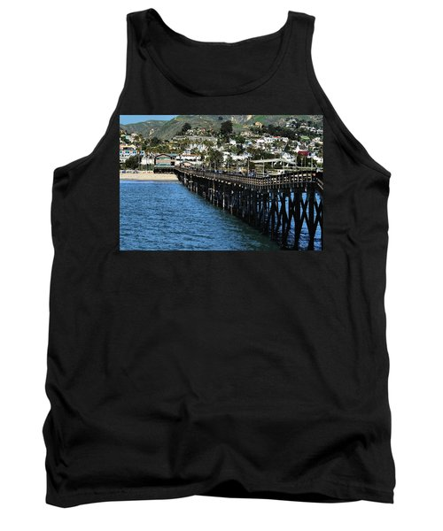 Tank Top featuring the photograph Along The Pier by Michael Gordon