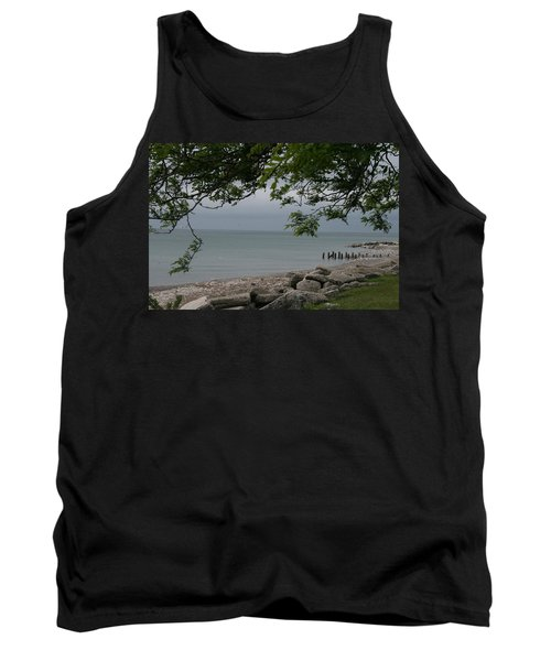 Tank Top featuring the photograph Along The Shore by Kay Novy