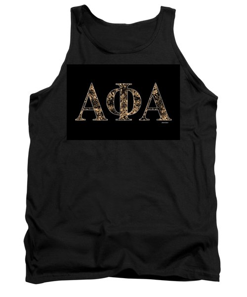 Tank Top featuring the digital art Alpha Phi Alpha - Black by Stephen Younts